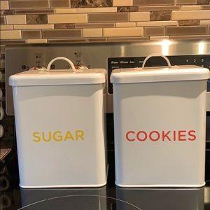 Martha Stewart Sugar & Cookies Canisters
